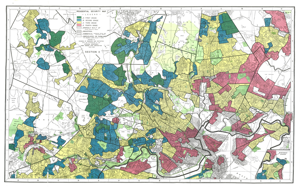 Residential security map of Boston, Mass.