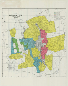 Residential security map of Brockton, Mass.
