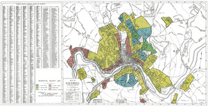 Residential security map of Haverhill, Mass.