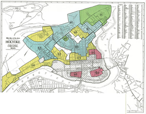 Residential security map of Holyoke and part of the city of Chicopee, Mass.
