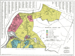Residential security map of Chicopee, Mass.