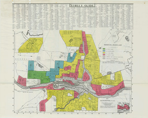 Residential security map of Manchester, N.H.