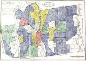 Residential security map of Pawtucket and Central Falls, R.I.