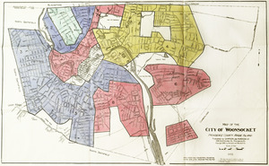 Residential security map of Woonsocket, R.I