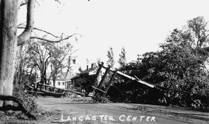 Damage in Lancaster Center