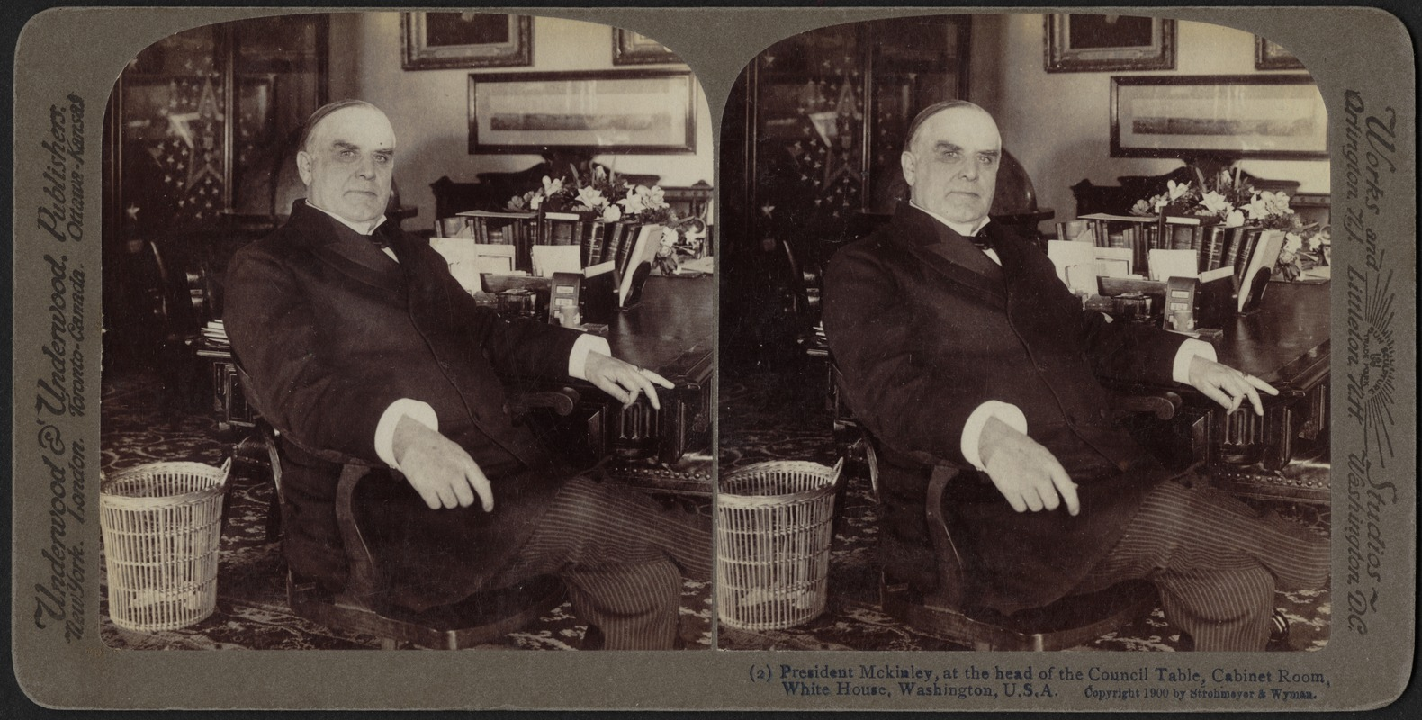 President McKinley, At The Head Of The Council Table, Cabinet Room, White  House
