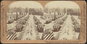 "Burial of the victims of the ""Maine"" in their final resting place, Arlington Cemetery, Va., Dec. 28, 1899"