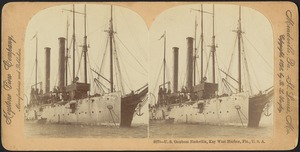 U.S. gunboat Nashville, Key West Harbor, Fla., U.S.A.