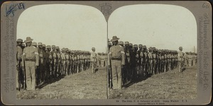 The 24th U.S. Infantry at drill. Camp Walker. P. I.