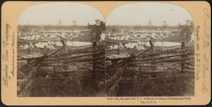 7th, 8th and 12th U.S. Infantry in camp, Chickamauga Park, Ga., U.S.A.
