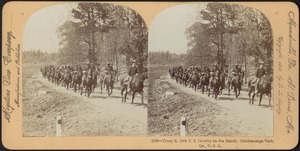 Troop K. 10th U.S. Cavalry on the march, Chickamauga Park, Ga., U.S.A.