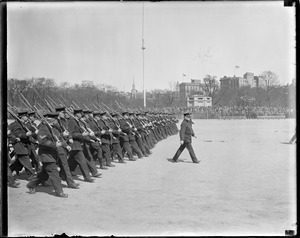 Boston police on parade, Boston Common