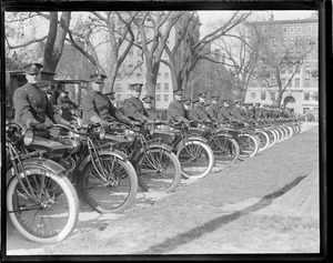 Motorcycle cops, Boston Common