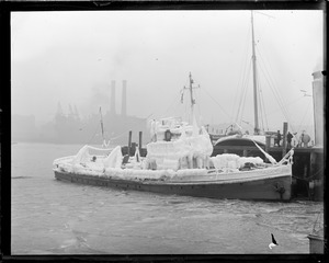 Ice clad rum chaser Dallas. Fought off gale for 70 hours.