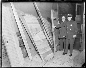 Police tear down speakeasy's door and bring them Police Stations in their sections. (? Cosmos Aids - Boston Eddie Lewis) - (JPJ)