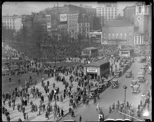 """""""Reds"""" demonstrate on Boston Common"""