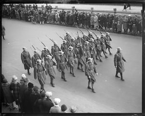 101st Infantry Parade on Beacon St. - Armistice Day