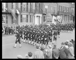 Mass. training ship students in Armistice Day Parade