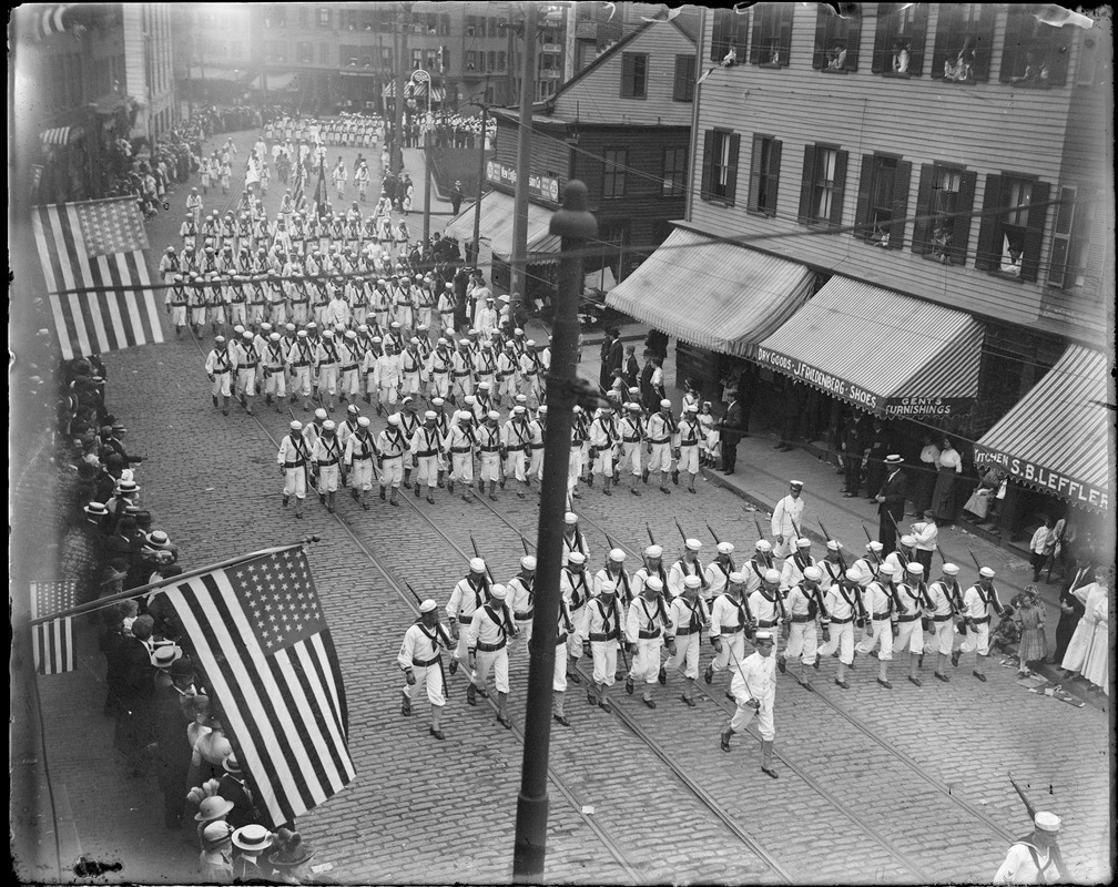 U.S. sailors in parade