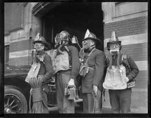 Rescue Co. 1 tries on gas masks