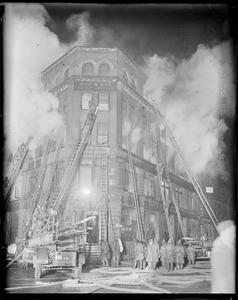 Nighttime fire at South Street