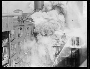 Three alarm fire on Thayer Street, South End, near Fire headquarters