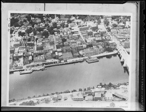 Aerial photo of unidentified river & town