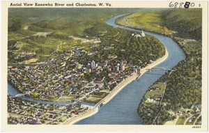 Aerial view Kanawha River and Charleston, W. Va.