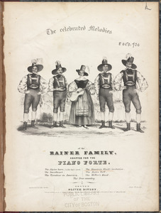 The celebrated melodies of the Rainer family, adapted for the piano forte.