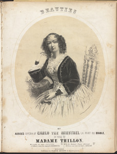 Beauties of Auber's opera of Carlo the minstrel, la part du diable, as sung by Madame Thillon.