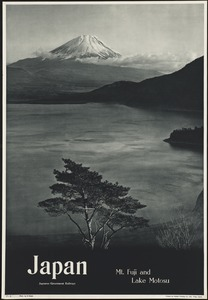 Japan. Mt. Fuji and Lake Motosu