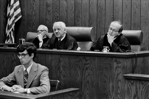 Real judges preside at Suffolk Law School moot court, Boston