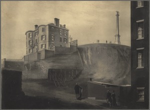 Beacon Hill, with Mr. Thurston's house, from Bowdoin Street