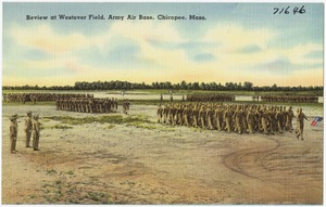 Review at Westover Field, Army Air Base, Chicopee, Mass.
