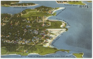Aerial view of Wareham Beaches, Cape Cod, Mass.