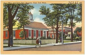 Post office and town hall, Hyannis, Cape Cod, Mass.