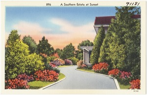 896. A Southern estate at sunset