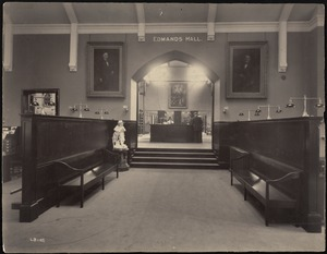 Newton Free Library, Newton, MA. Oversize photos. Newton Corner Library, interior, Edmands Hall