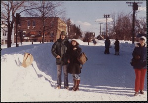 Blizzard of 1978. Langley Rd, Newton Centre