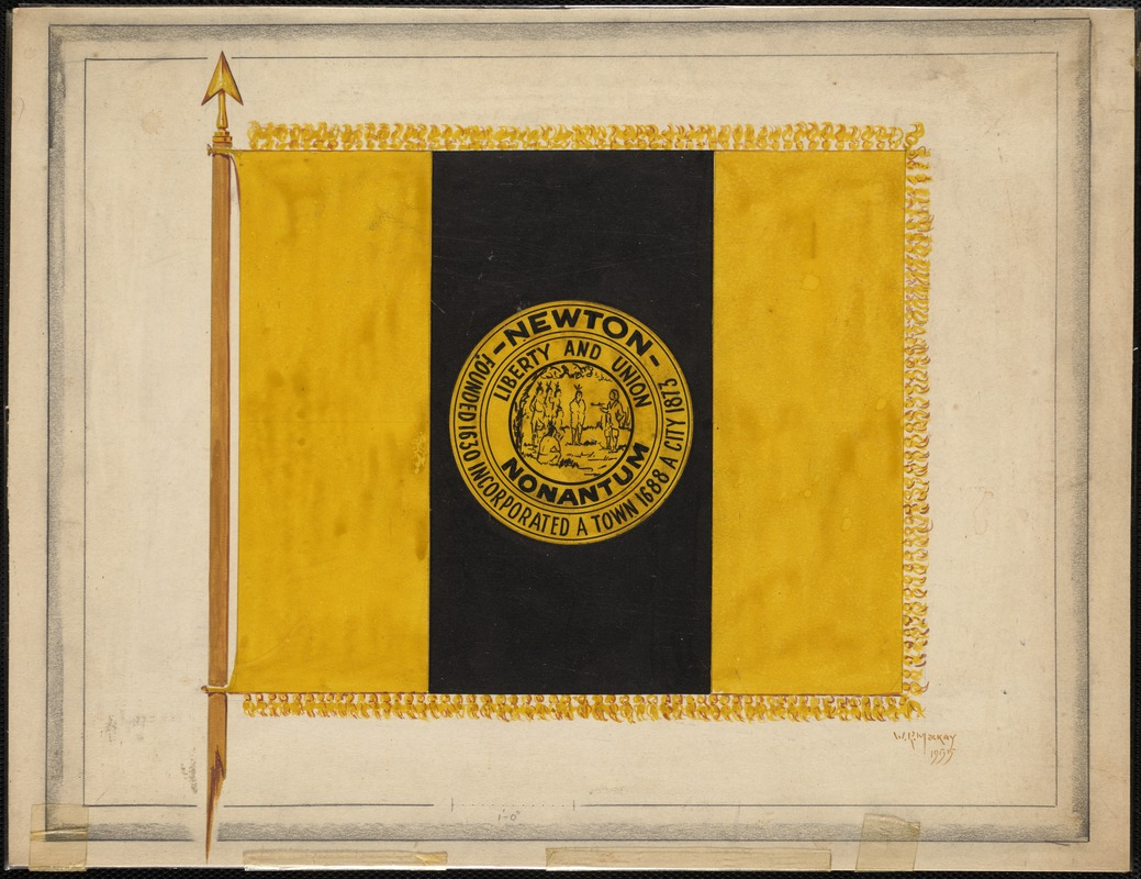 City of Newton flag adopted in 1955. Newton, MA
