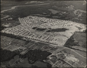 Aerial view, veteran's housing, Oak Hill Park. Newton, MA