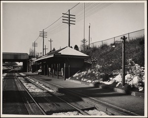 Newtonville Railroad Station. Newton, MA