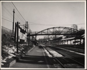 Newtonville Railroad Station. Bridge. Newton, MA