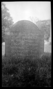 Priscilla Wiswall gravestone, Old Burying Ground