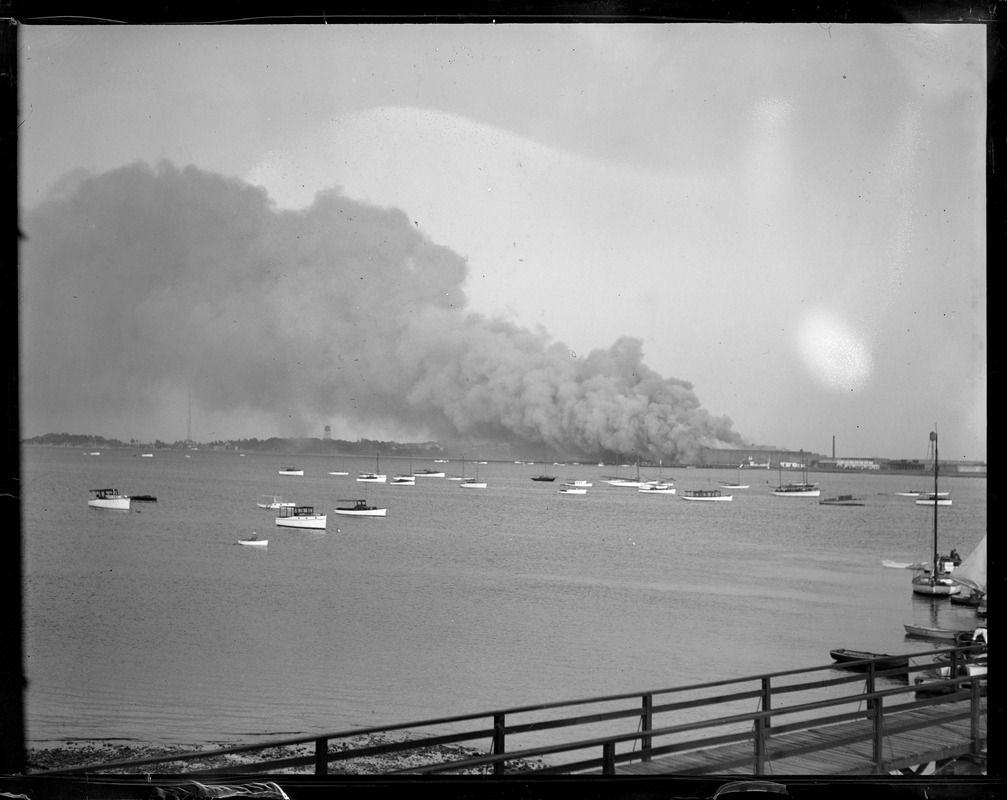 Victory Plant fire from Savin Hill Yacht Club. $1,500,000 loss.