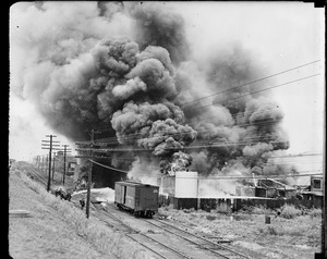Paint Plant Fire, Camden, N.J. George B Welherill and Co. Inc. plant on the White Horse Pike