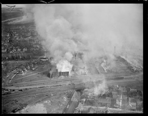 Nashua, N.H. Big fire from an aeroplane
