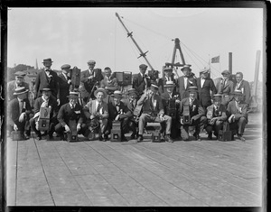 Battery of photographers who followed the presidential party from Plymouth to mount prospect in Lancaster, N.H.