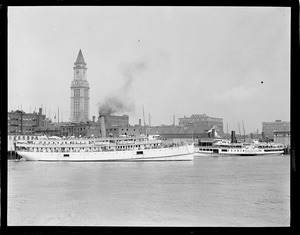 The SS Dorothy Bradford and the SS Rose Standish, Boston Harbor