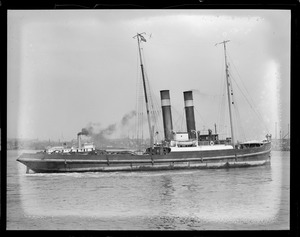 Dutch tug Roodezee sets distance record of 1300 miles towing steamer Binnendyk from Azores to Boston